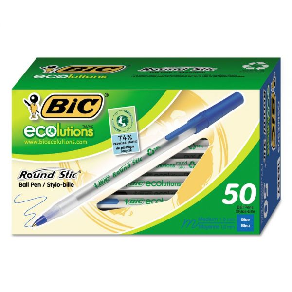 BIC Ecolutions Round Stic Ballpoint Pens