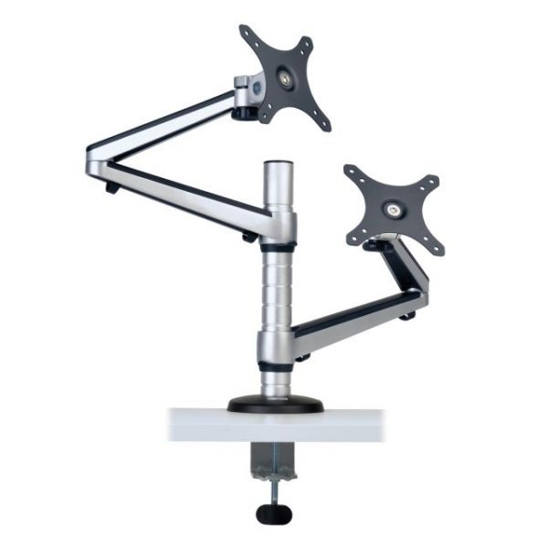 "Tripp Lite Dual Display LCD Desk Mount Arm Swivel Tilt 13""-27"" Flat Panel"