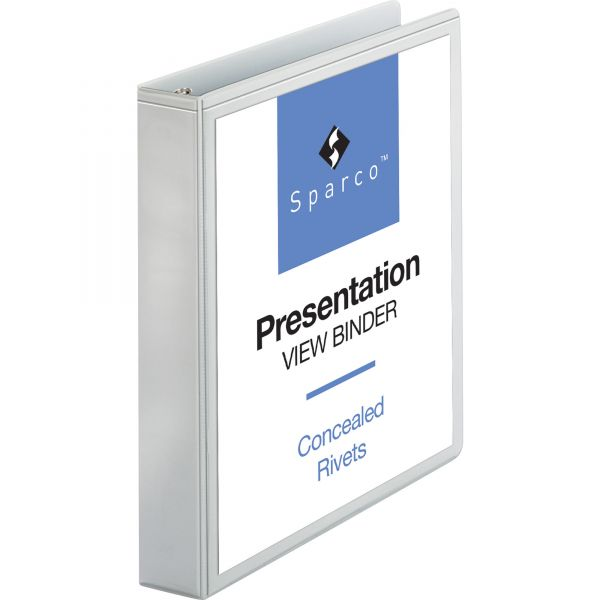 "Sparco Standard 1 1/2"" 3-Ring View Binder"