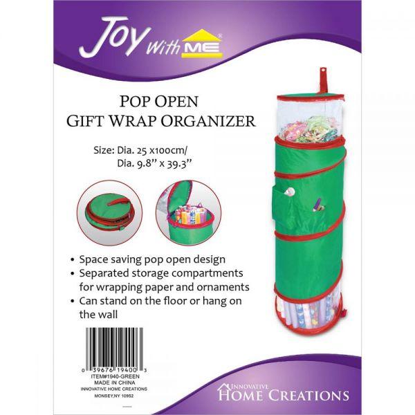 Pop Open Gift Wrap Organizer