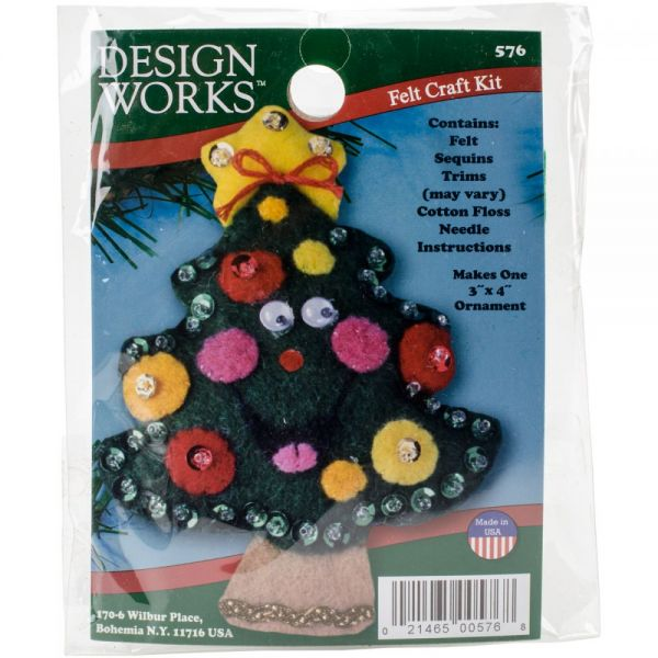 Tree Ornament Felt Applique Kit