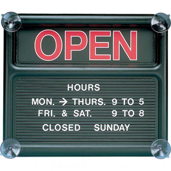 Quartet Black Open/Closed Sign