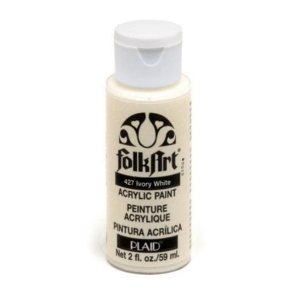 Folk Art Ivory White Acrylic Paint