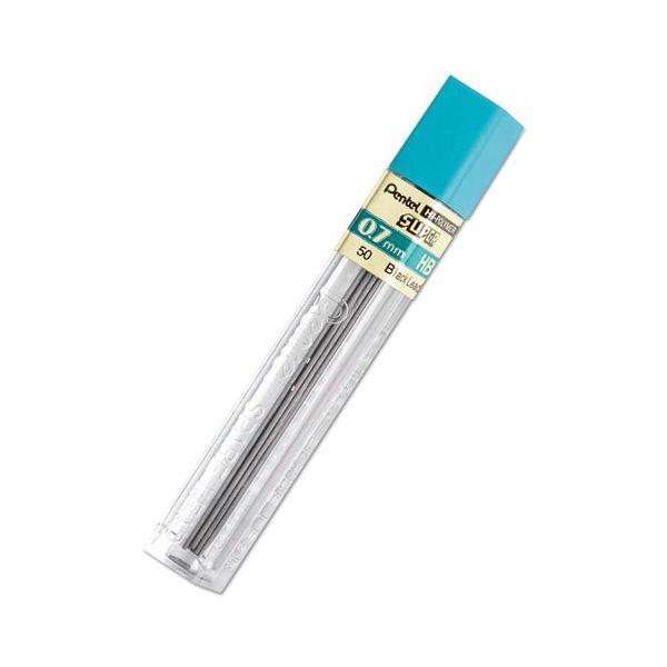 Pentel Super Hi-Polymer Lead Refills, 0.7mm, HB, Black, 12 Leads/Pack