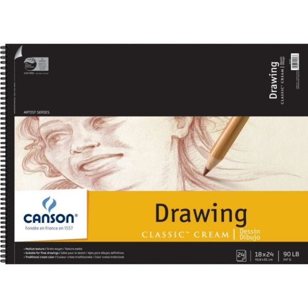 Canson Acid Free Classic Cream Drawing Paper Pad