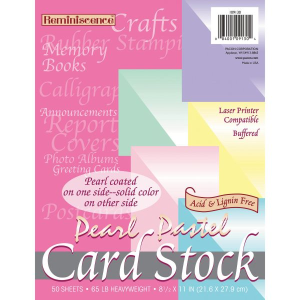 Pacon Reminiscence Colored Card Stock