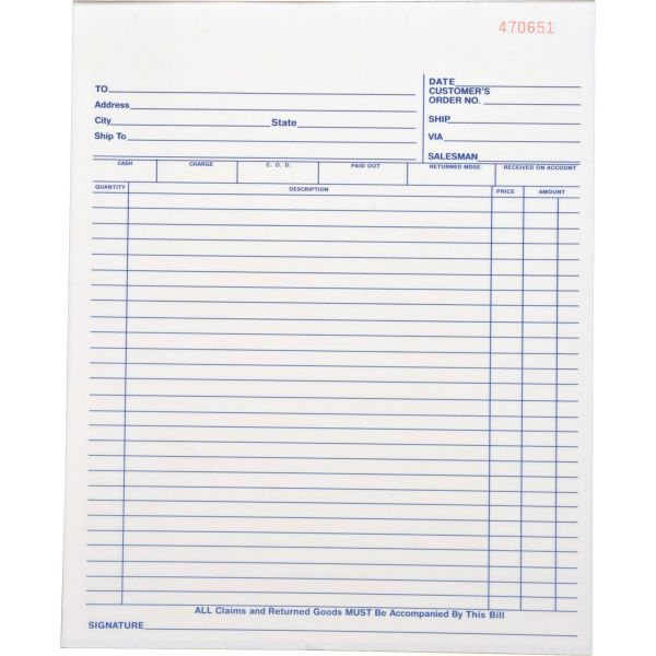 Business Source All-Purpose 2-Part Carbonless Forms Book