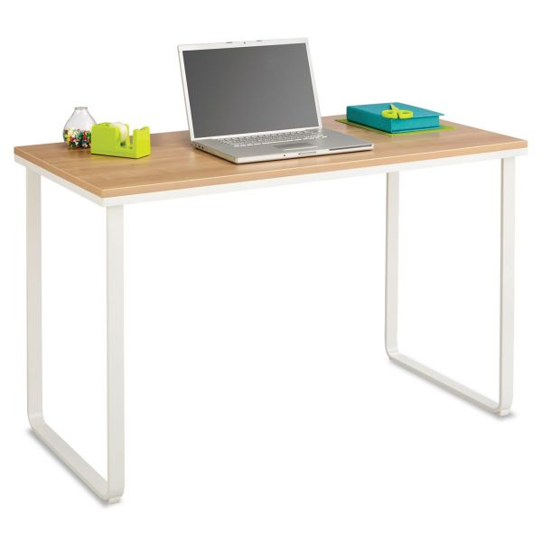 Safco Steel Workstation, 47-1/4w x 24d x 28-3/4h, Beech/White