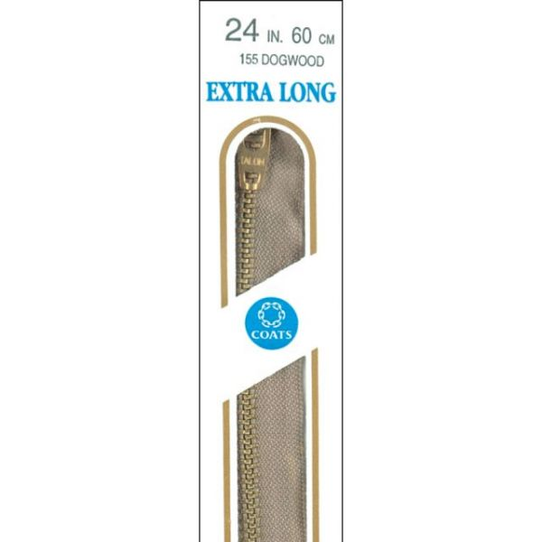 "Extra Long Metal Zipper 27"""