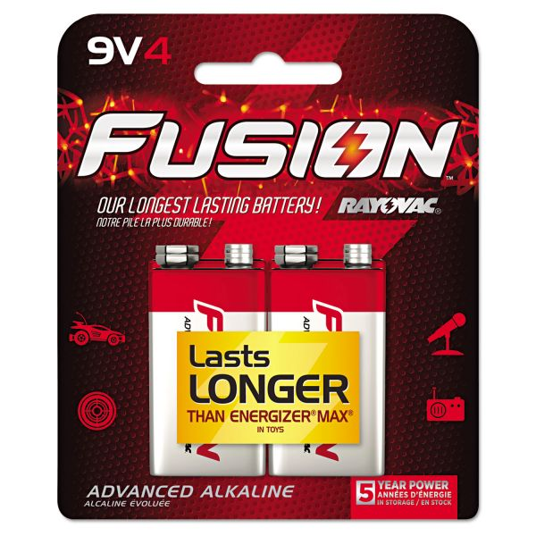 Rayovac Fusion Performance 9V Batteries