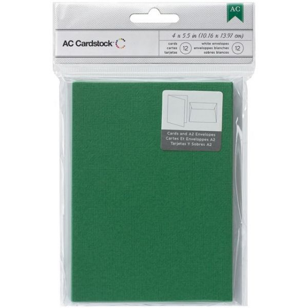 "American Crafts A2 Cards & Envelopes (4.375""X5.75"") 12/Pkg"