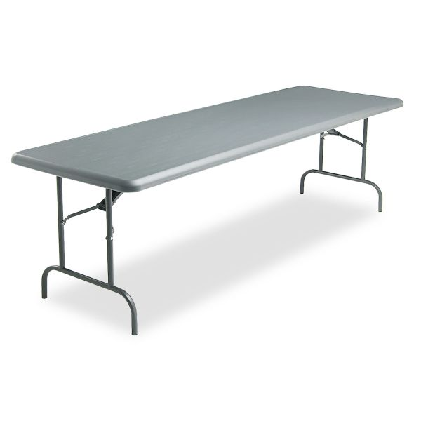 Iceberg IndestrucTables Too 1200 Series Resin Folding Table, 96w x 30d x 29h, Charcoal