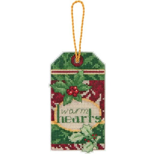 Susan Winget Warm Hearts Ornament Counted Cross Stitch Kit