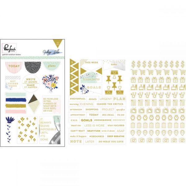 """Indigo Hills Foiled Stickers 4""""X6"""" 3/Pkg"""