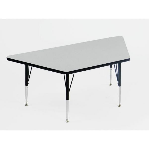 Correll EconoLine Height Adjustable Trapezoid Activity Table