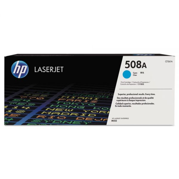 HP 508A Cyan Toner Cartridge (CF361A)