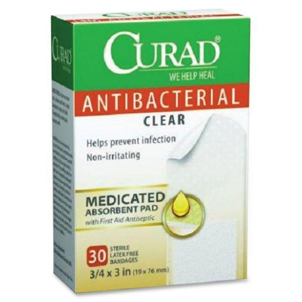 Curad Antibacterial Clear Bandages