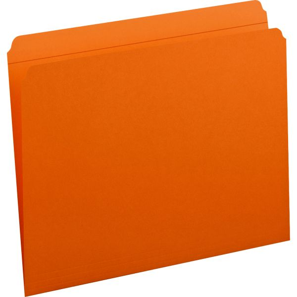 Smead 12510 Orange Colored File Folders with Reinforced Tab