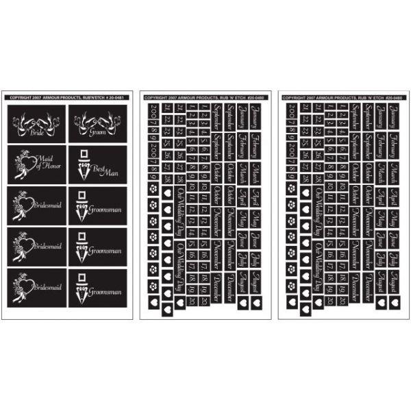 """Rub 'N' Etch Designer Stencils 5""""X8"""" 3/Pkg"""