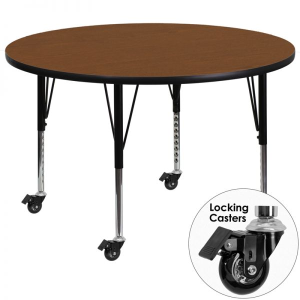 Flash Furniture Mobile Height Adjustable Round Activity Table