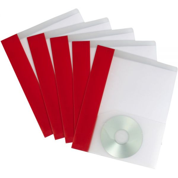 Storex Poly Two-Pocket Folders