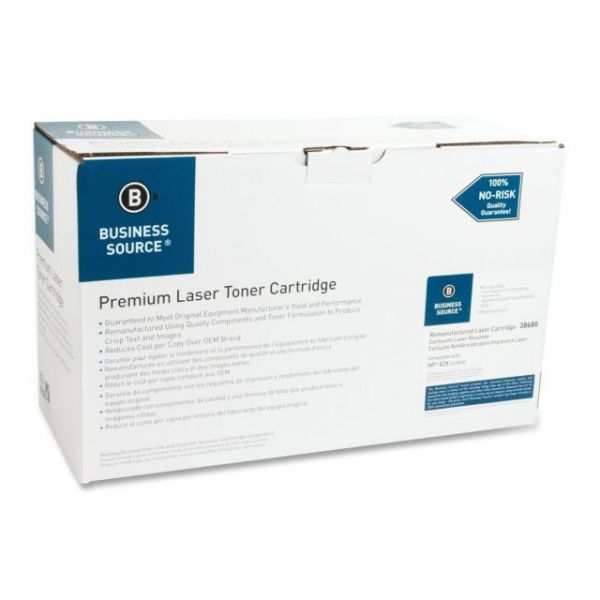 Business Source Remanufactured HP 82X Black Toner Cartridge