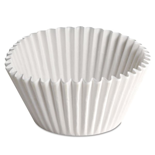 Hoffmaster Fluted Bake Cups, 2 1/4 dia x 1 7/8h, White, 500/Pack, 20 Pack/Carton