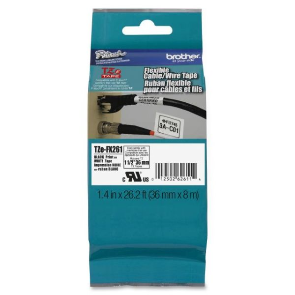 Brother P-Touch TZe Flexible ID Label Tape Cartridge
