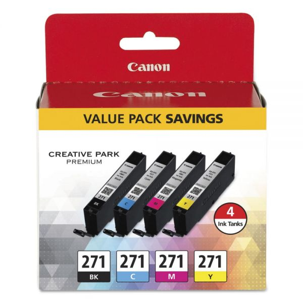 Canon CLI-271 Ink Cartridge Value Pack (0390C005)