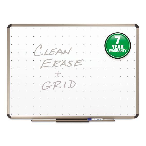 Quartet Prestige Total Erase Whiteboard, 48 x 36, White Surface, Euro Titanium Frame