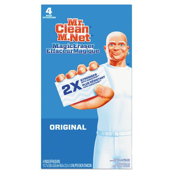 "Mr. Clean Magic Eraser - All Purpose, 2 2/5"" x 4 3/5"", 1"" Thick, White, 24/Ctn"