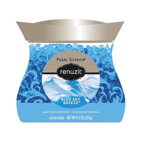 Renuzit Pearl Scents Odor Neutralizer, Blue Sky Breeze, 9 oz Jar, 8/Carton