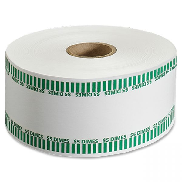 MMF Industries Automatic Coin Flat Wrapper Rolls, Dimes, $5, 1,900 Wrappers per Roll