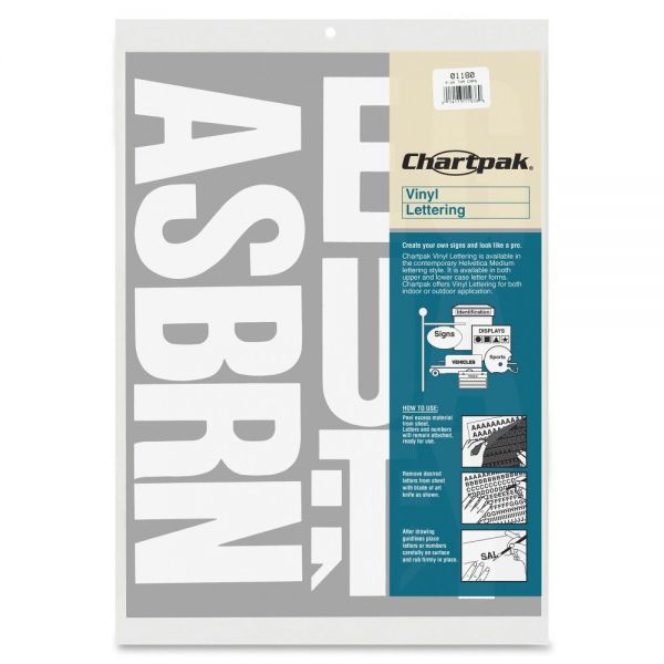 "Chartpak 3"" Vinyl Capital Letters"