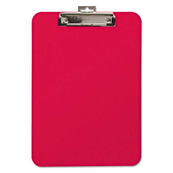 """Mobile OPS Unbreakable Recycled Clipboard, 1/4"""" Capacity, 8 1/2 x 11, Red"""