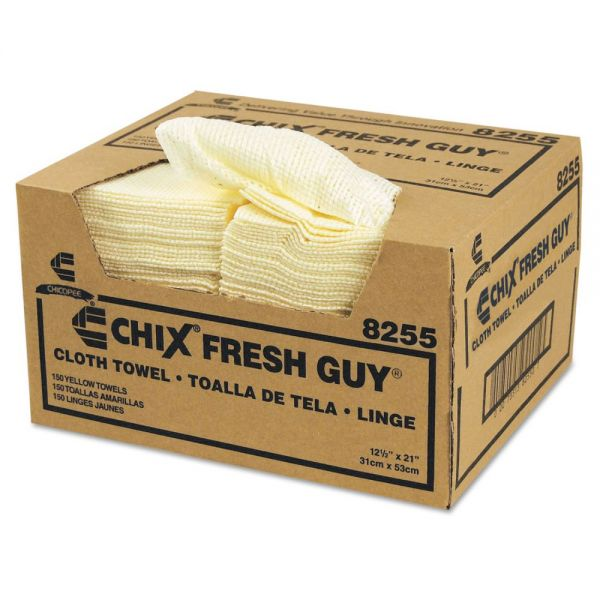 Chix Fresh Guy Towels, 13 1/2 x 13 1/2, Yellow, 150/Carton