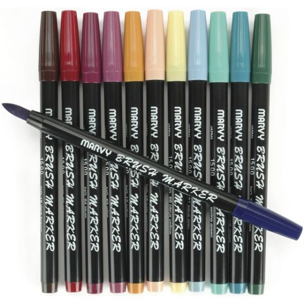 Brush Markers 12/Pkg