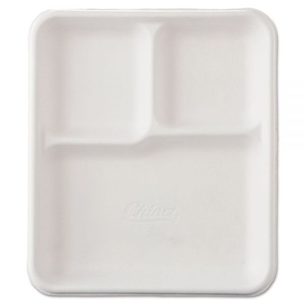 Chinet Heavy-Weight Molded Fiber Cafeteria Trays