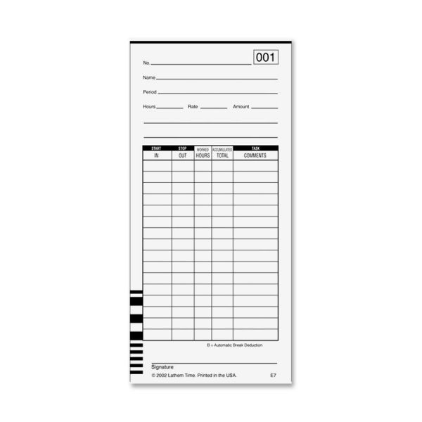 Lathem 7000E Double-Sided Time Cards