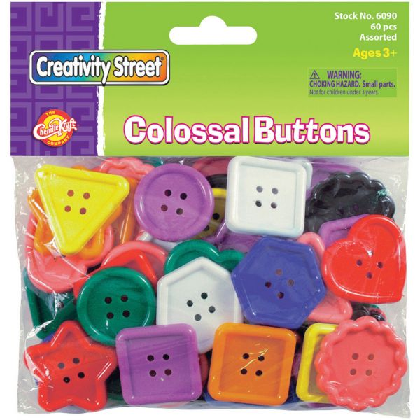 ChenilleKraft Extra Large Colossal Plastic Buttons