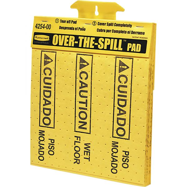 Rubbermaid Bilingual Over-The-Spill Pads