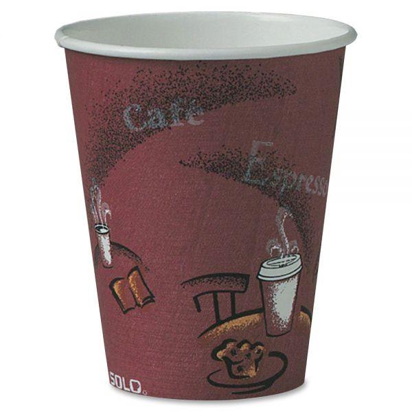 Solo Bistro Disposable 8 oz Paper Cups