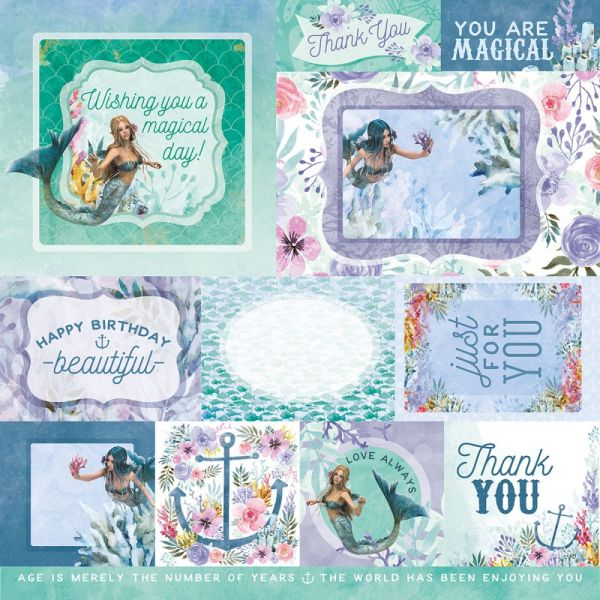 """Mermaid Tails Double-Sided Cardstock 12""""X12"""""""