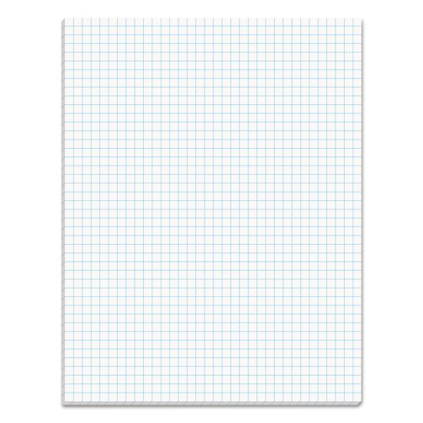 TOPS Quadrille Pads, 4 Squares/Inch, 8 1/2 x 11, White, 50 Sheets