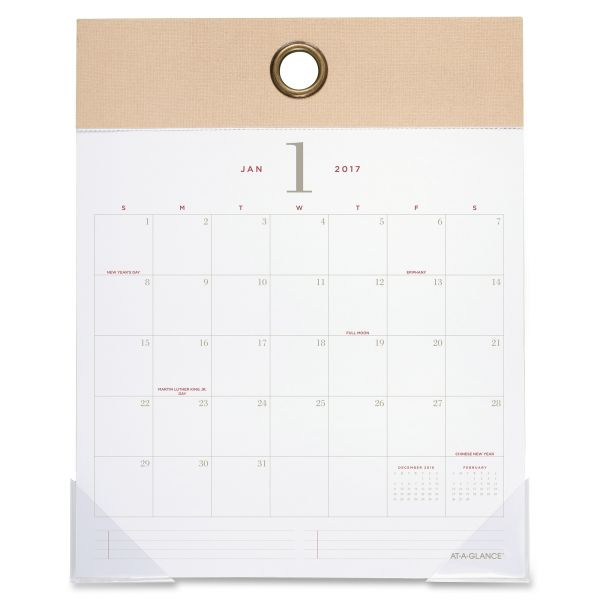 At-A-Glance Collection Monthly Wall Calendar