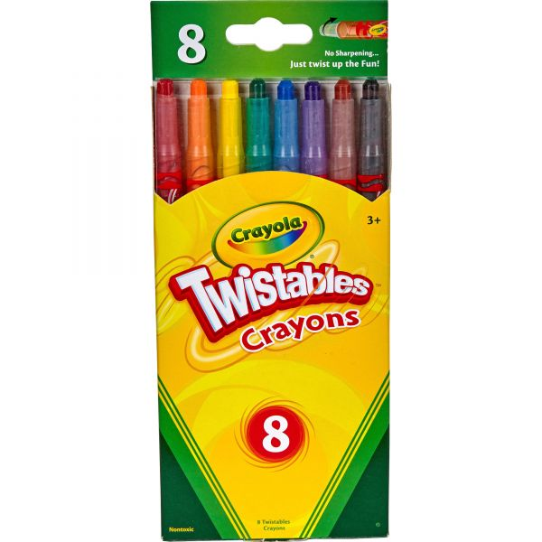 Crayola Twistable Crayons, 8 Traditional Colors/Set