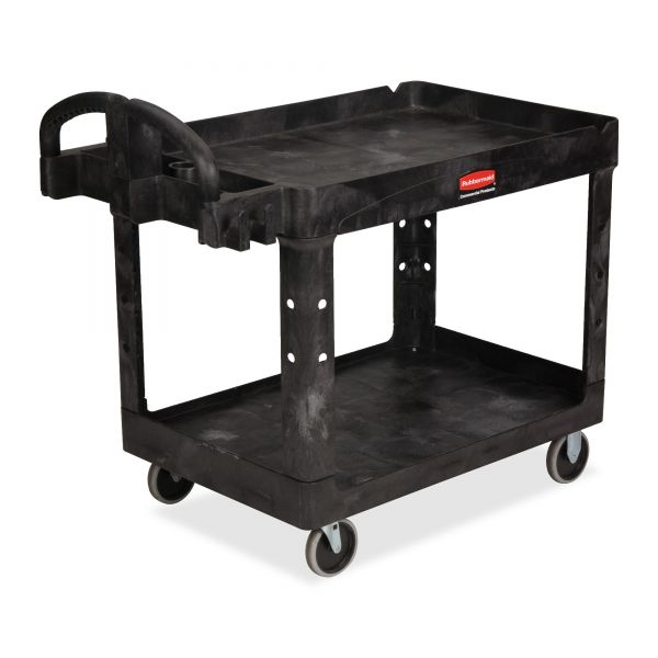 Rubbermaid Commercial Heavy-Duty Lipped-Shelf Utility Cart