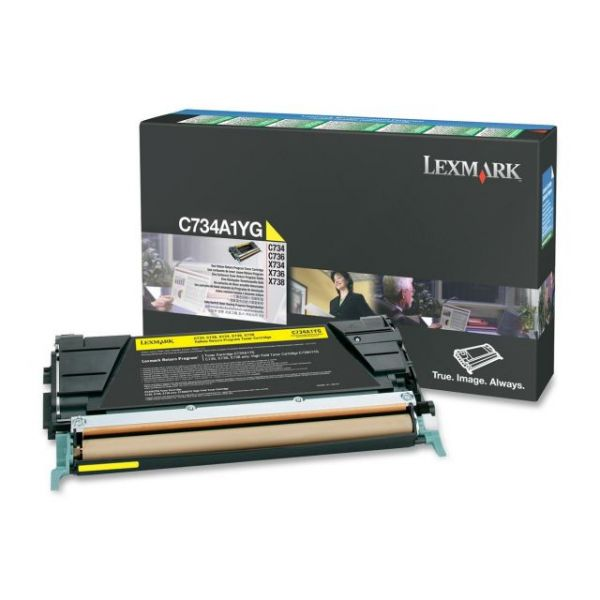 Lexmark C734A1YG Yellow Return Program Toner Cartridge