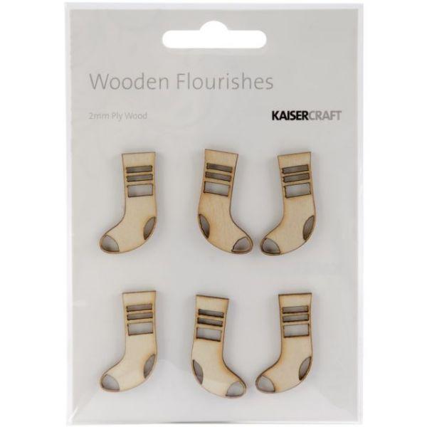 Wood Flourishes 6/Pkg