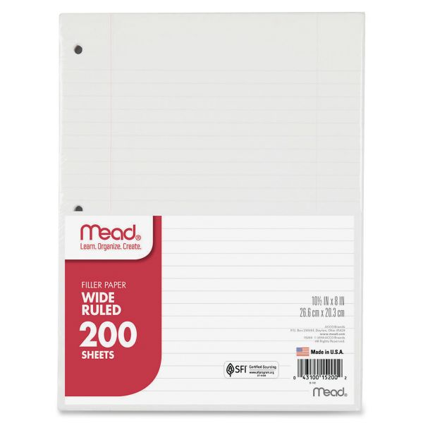 Mead Wide Ruled Filler Paper